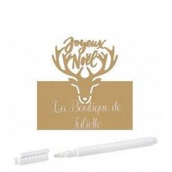 """Marque-places Kraft """"Joyeux Noël"""" (x6)"""