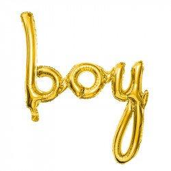 """Ballon """"Boy"""" doré - 63 cm"""