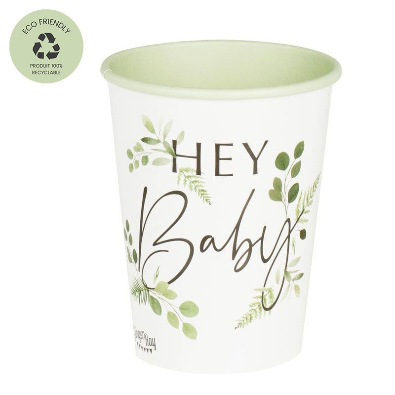 "Gobelets ""Hey Baby"" (x8)"