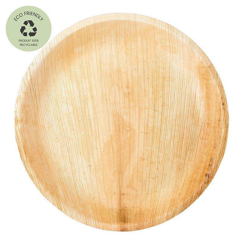"""Assiettes en feuille de palmier """"Feuilles Tropicale"""" (x6)"""