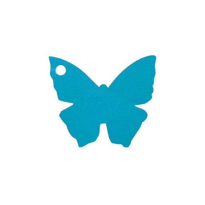 Marque place en papillon Turquoise