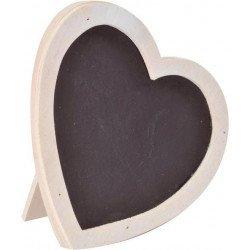 Cadre cœur ardoise blanc