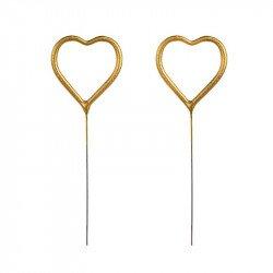 Bougies Magiques Coeur (x2)