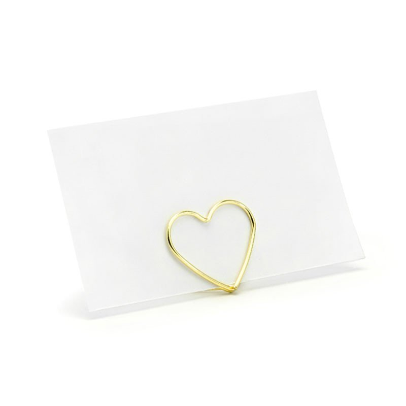 Marque-place coeur doré (x10)