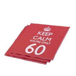 "Serviettes 60 Ans ""Keep Calm You're Only 60"" (x20)"