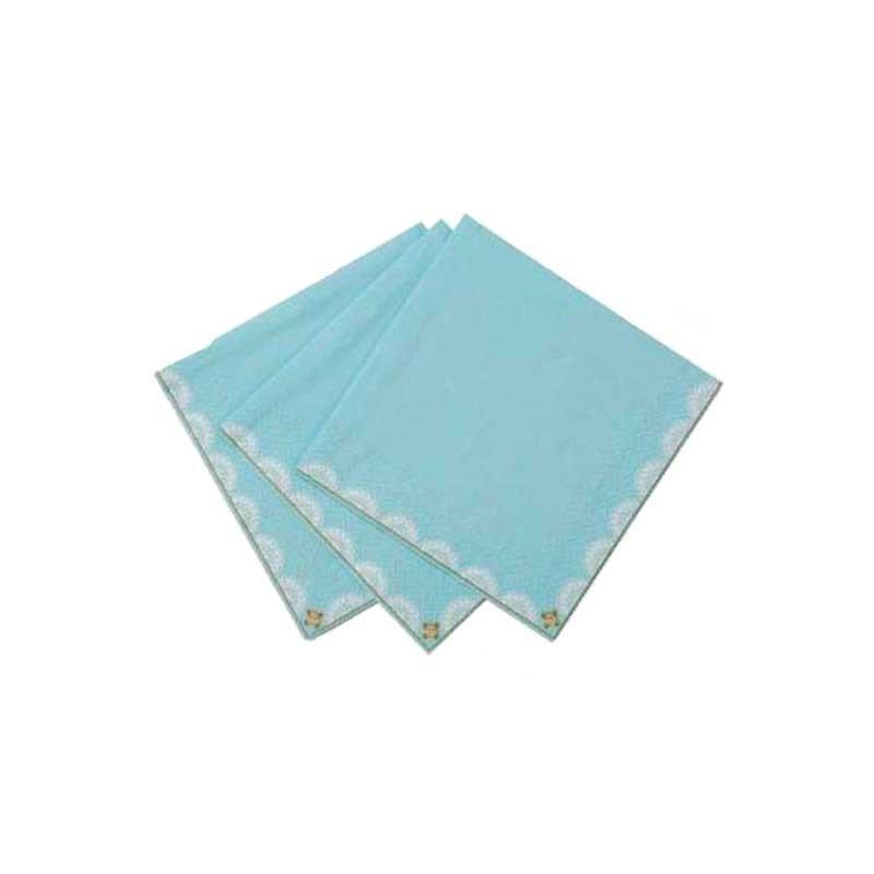 Serviettes de cocktail bleues (x20)