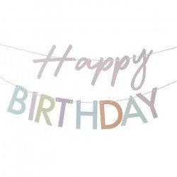 """Guirlande """"Happy Birthday"""" Pastel"""