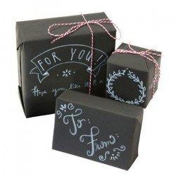 Kit emballage Cadeau ardoise