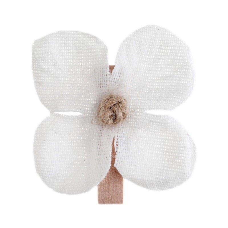 Orchidée sur pince blanc (x6)