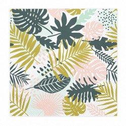 """Serviettes feuilles """"Aloha"""" (x20)"""
