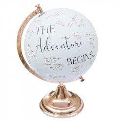 "Livre d'or ""Globe terrestre"" rose gold"