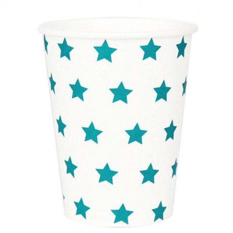 Gobelets étoilés bleu (x8)