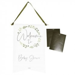 Tenture Baby Shower personnalisable