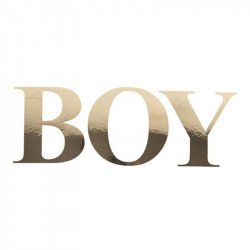 "Sticker ""BOY"" doré"