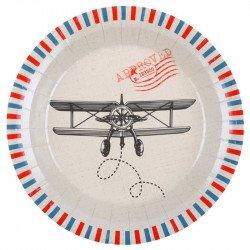 """Assiettes """"Bon Voyage"""" (x10)"""
