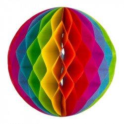 Boule alveolée arc en ciel (x3)