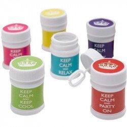 """Pots à bulles """"Keep Calm"""" (x6)"""