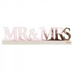 """Lettres """"Mr & Mrs"""" rose gold"""