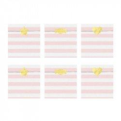 Sachets à bonbons rayés pastel (x6)