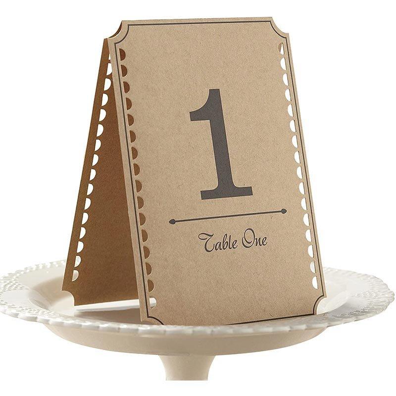 Numéros de table Rétro Vintage -1 à 24