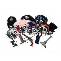 Kit photobooth Halloween - 16 accessoires