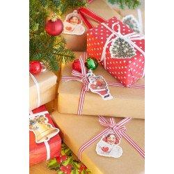 Etiquettes cadeaux Noël - 8 unités