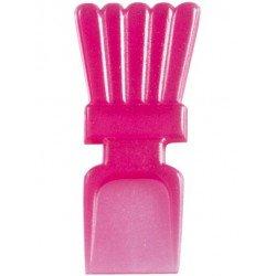 Mini cuillères translucides rose