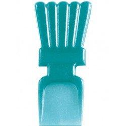 Mini cuillères translucides turquoise (x25)