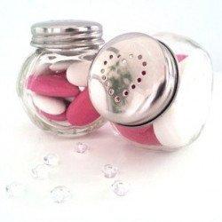 Bonbonnière coeur verre - 4 unités