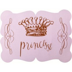 6 sets de table Princesse Couronne