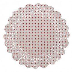 Napperon Noël blanc et rouge - 20 unités