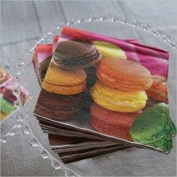 serviette en papier macarons - 20 unités