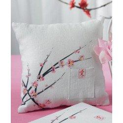 Coussin alliances Fleur de cerisier - à l'unité