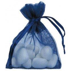 Sachets organdi (x10) - Bleu marine