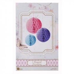 Nids d'abeilles rose bleu violet - 3 unités