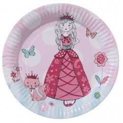 Assiette Princesse - 8 unités