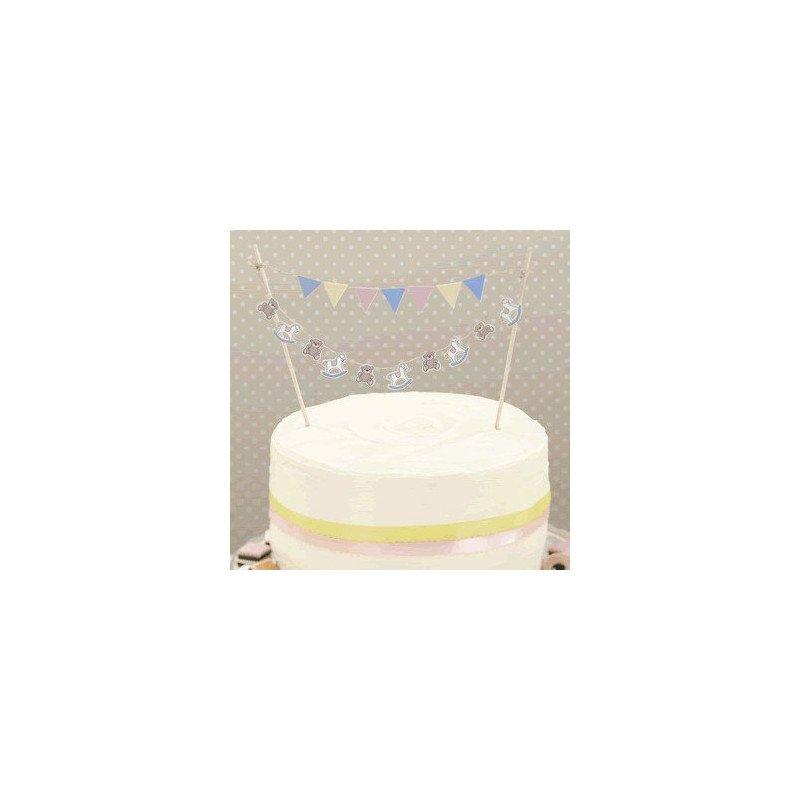 Décoration de gâteau Mon petit cheval à bascule - 1 unité