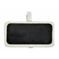 Marque-places ardoise sur pince (x6) - Blanc