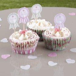 20 pics à cupcake Shabby fleuri