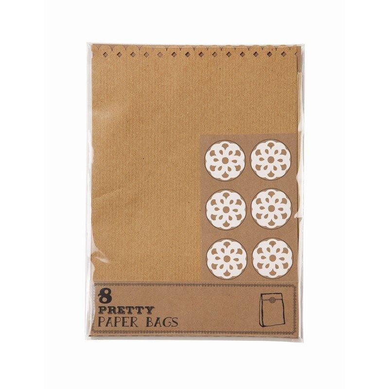sac bonbons rétro kraft - 8 unités