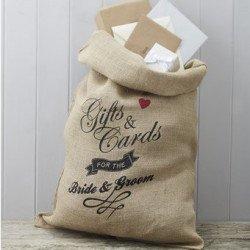 Sacs cadeaux et cartes jute
