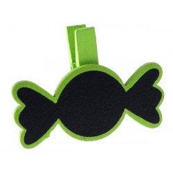 Pinces bonbon (x6) - Vert