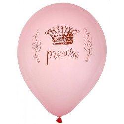 Ballons Princesse Couronne (x8)