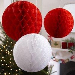 Nids d'abeilles Boules de Noël - 3 unités