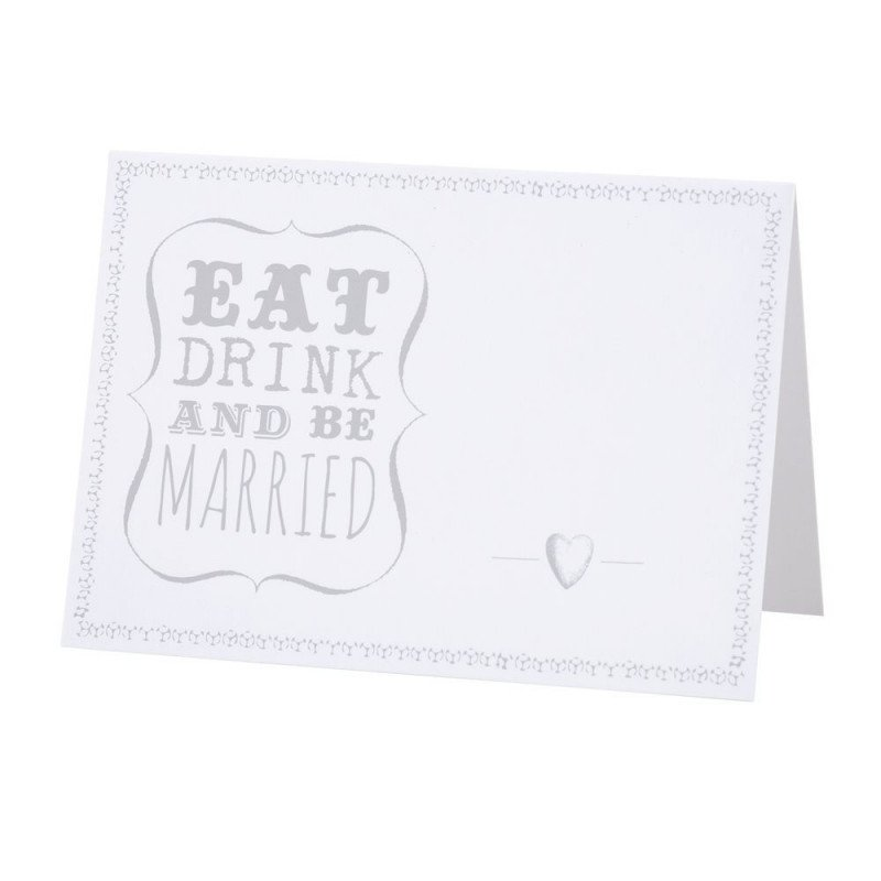"Marque-place ""eat, drink and be married"" -10 unités"