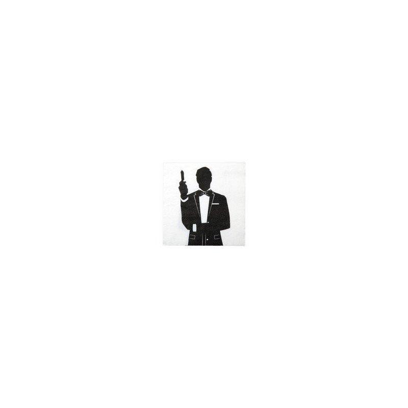 Serviettes agent spécial 007 -10 pièces