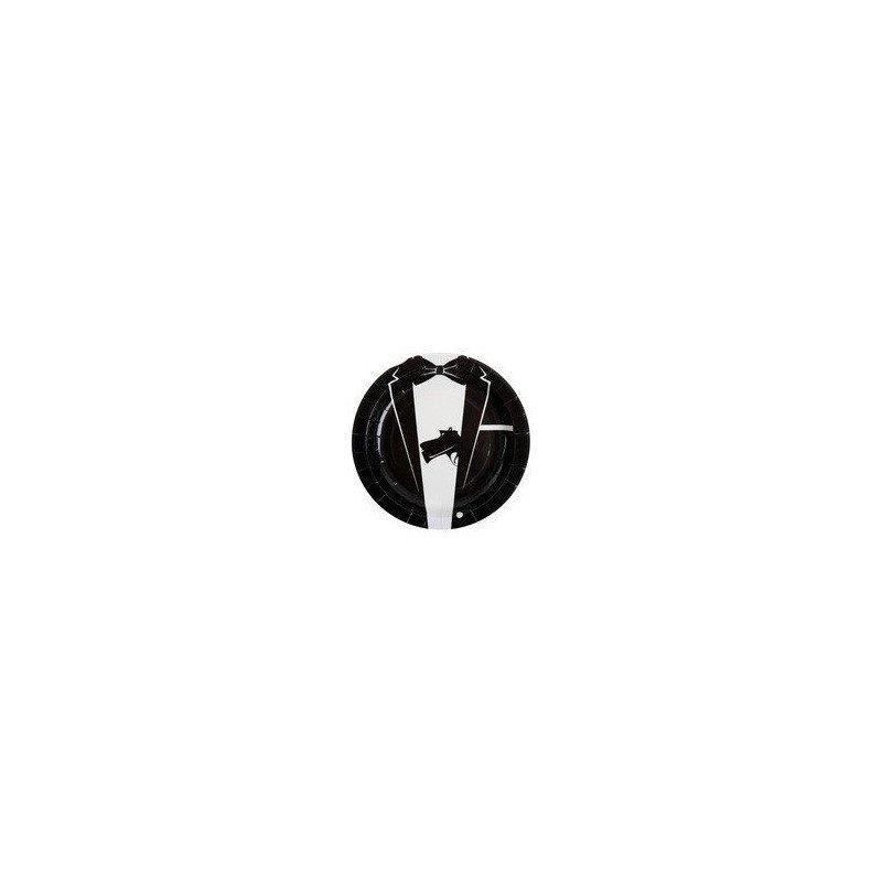 Assiettes Agent spécial 007 - 10 pièces