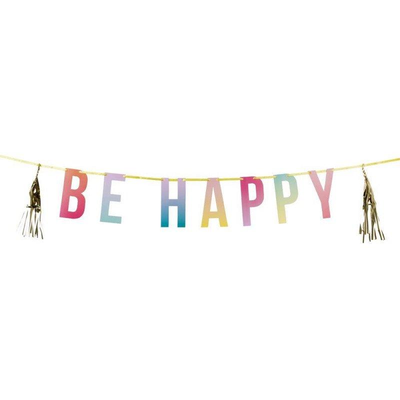 Banderole BE HAPPY