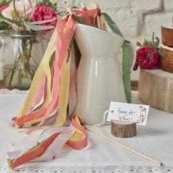 Baguettes rubans pastels - 10 unités