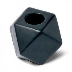 Bougeoir octogonal - Noir
